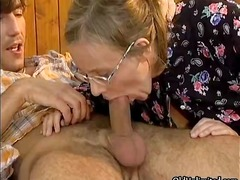 granny, housewife, older, blowjob, blonde, fucking, cumshot