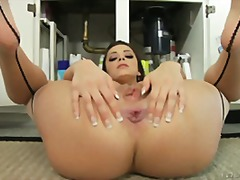 pornstar, hd, kitchen, pussy lips, masturbating, gape, anal, asshole, ass, pussy, hardcore, close up