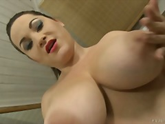 big tits, boobs, natural tits, chubby, brunette, solo, nipples