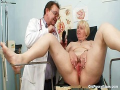 boobs, gyno, doctor, gyn, granny, pussy, mature, exam, close