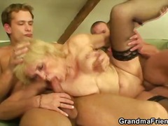 bj, nylon, driesaam, blond, ouma, amateur, hard
