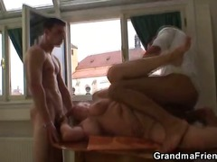 granny, blonde, threesome, hardcore, k.d., celebrity, blowjob