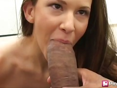 interracial, brunette, big-cock, blowjob, babe