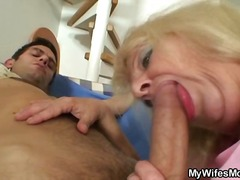 blond, ouma, bj, nylon, hard