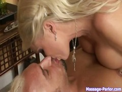big-tits, kissing, blonde