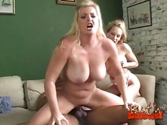 dreier, pornostar, großer schwanz, blond, interracial, babe, blowjob, hardcore