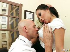 reality, office, hardcore, pornstar, big-cock, brunette, big-tits, babe, blowjob