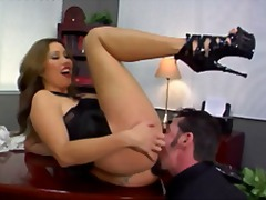 hardcore, pussy-eating, ass, office, foot-fetish, oral, fetish, femdom, heels, high, ass-licking,
