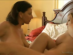 lesbiennes, lits, oral, oral, anal, hardcore, couple