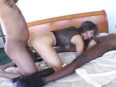 brunetter, røv, amatører, trekant, anal, blowjobs, blowjobs, sort, trekantsex, stor pik