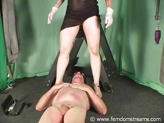 slave, slap, pain, cock-riding, ball-licking, cbt, bust, mistress, femdom
