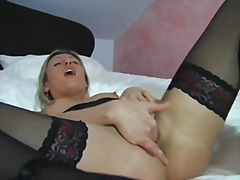 blond, masturbationen, fetish