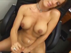 oraal, titjob, vinger, blond, milf, amateur, groot anties, hand job