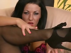 pornstar, natural-boobs, nylons, gonzo, dark-hair, stockings