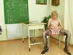 blond, milf, harig, ouer, sykous