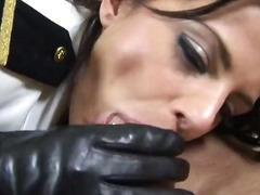 big-tits, hardcore, facial, uniform, nylons, european, brunette, anal