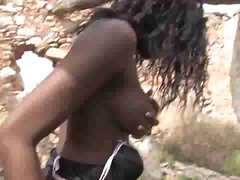 outdoors, big-tits, african, cumshot, anal, interracial, ebony, girl-on-girl