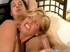 milf, double penetration, blond, double penetration