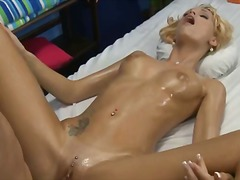 bj, blond, massering, hard, babe, oraal