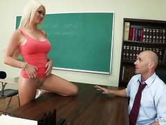 skool, blond, deepthroat, bj, uniform, hard