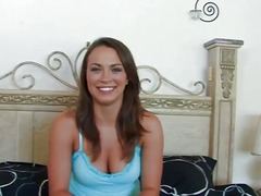 Tempting good looking brunette babe lily
