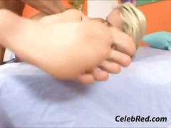 voet fetish, blond, bj, poesie