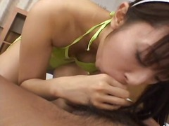 Cute hina hinako gives the hot blowjob!