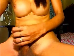 masturbation, solo, webcam, tits, shemale, big