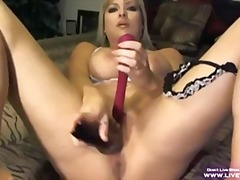 Busty pornstar tylene buck plays with her adult-toys