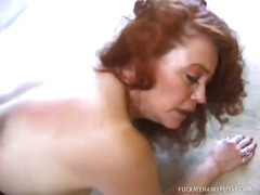 redhead, anal, hairy, oral, blowjob, hardcore, mature