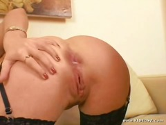 stockings, anus, black, assfuck, doggys, big, buttfuck, dick, anal, afro, rough, cock, butt, cumshot, gaping, interracia