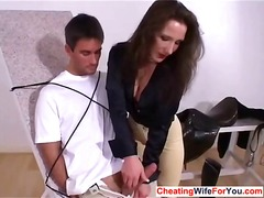 milf, handjob, wife, british, cumshot, fetish, cheating, blowjob