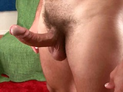 hunk, gay, big, solo, cock, jerking