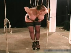 tied, bdsm, spank, upper, slave, fetish, bound, big, bondage, tits