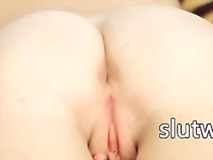 Blonde chick masturbate and rubbing