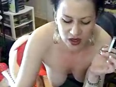 smoking, babe, masturbation, brunette