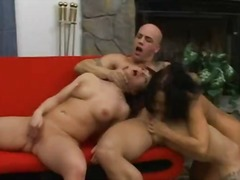 cock, oral, double, 3some, hairy, wife, fellatio, cfnm, tits, share, jerking, girls, brunette, boobs, blowjob, dick, ffm