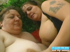 outdoors, threesome, bbw