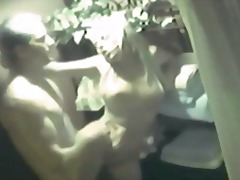 Amateur couple fuck in bathroom closet