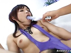 Arisa suzuki has herself seriously wired. it's like our hot japanese nymph turns inside the toy herself as ...