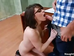 Busty teacher lets student fuck her in exchange for good grades