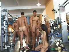 anal, gangbang, brasilien, party, group