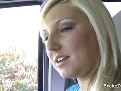 stranger, fucking, horny, down, delicious, break, car, blonde