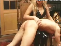 Spanked and slapped hard by sexy mistress