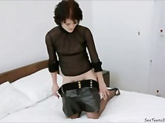stockings, wide, gaping, insertion, fisting, pussy, bottle, hole