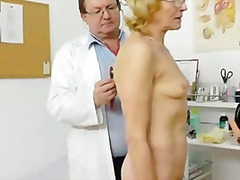 pussy, clinic, granny, grandma, medical, cervix, old, glasses, blonde, bizarre, doctor, speculum, stretching, skinny