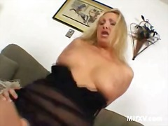 bank, ruw, blond, hard, sexy moeder