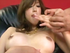 Emiri senoo cums so hard she wets down her pussy with hot liquid lady juice
