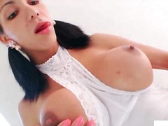 handjob, shemale, big cock, masturbation, big, latina, big boobs, penis, ejaculation, big ass, tits, cock
