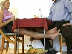 foot, toes, feet, dick, small, woman, red, mature, soles, older